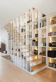 Accessories: Wooden Block Stairs With Bookshelves Storage - Bookshelves  Hacks