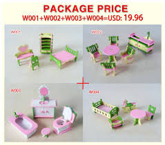 cheap dolls house furniture sets. 4set/lot New Children Gift Kids Wooden Toy Furniture Doll House Set DIY Educational Toys Kitchen Bathroom And Chilren Room-in Dolls From \u0026 Hobbies On Cheap Sets I