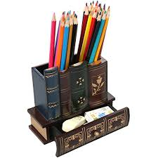 decorative office supplies. decorative library books design wooden office supply caddy pencil holder organizer with bottom drawer supplies h