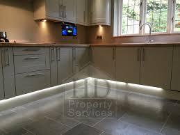 Karndean Kitchen Flooring Before After Photos Transformation Kitchen Plinth Lighting