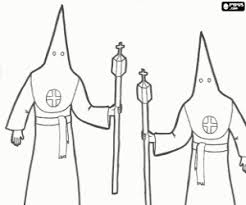 A Procession Of Holy Week Coloring Page Printable Game