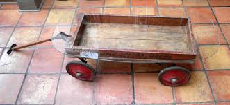 Vintage toy pull wagons