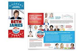 Campaign Brochure Political Candidate Brochure Design Template By Stocklayouts