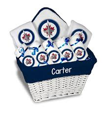 personalized winnipeg jets large gift basket