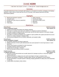 Warehouse Packer Resume Resume For Your Job Application