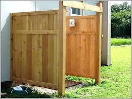 diy outdoor shower pvc homemade enclosure