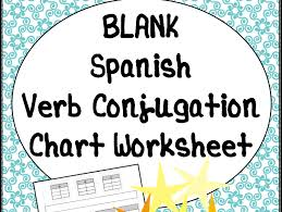 blank t chart verb conjugation worksheet for spanish cl by laprofesorafrida teaching resources tes