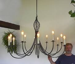 ace wrought iron large custom theatre chandelier hand forged by clayton j bryant