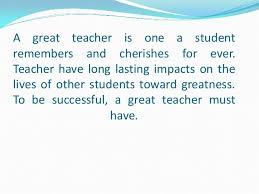 characteristics good teacher essay my sociology class essay can characteristics good teacher essay