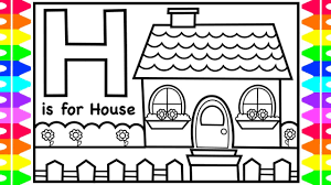 The abc color games requires kids to color any alphabet of their choice. Alphabet Abc Coloring Pages H Is For House Coloring Art Colors For Kids With Colored Markers Youtube