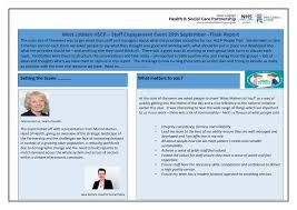 West Lothian HSCP – Staff Engagement Event 29th September– Flash Report