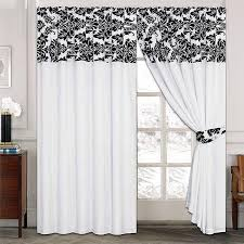 Curtains Luxury Damask Curtains Pair Of Half Flock Pencil Pleat Window