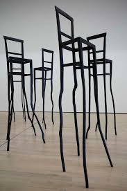contemporary art furniture. bronze bar stools sculpture u201ceroiu201d from tableau drapeau masterpieces the museum of modern and contemporary art trento rovereto with temporary furniture r