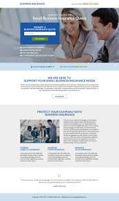 small business insurance quote squeeze page design