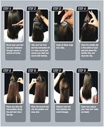 Clip In Hair Extension Length Chart 24 Inch Light Brown Clip In Hair Extensions Synthetic One