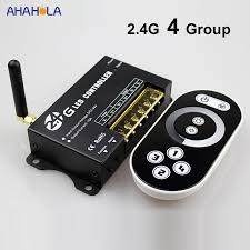 2.4G RF Led Dimmer <b>Touch</b> Switch Control 4 Group <b>DC 5V</b> 12V 24V ...
