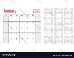 Planner 2020 Template Calendar Planner 2020 Template