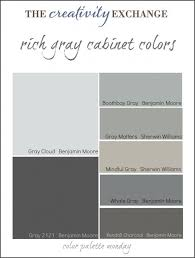 gray cabinet colors. Contemporary Gray Collection Of Some The Most Popular Gray Paint Colors Used For Painting  Cabinets Vanities And Furniture Color Palette Monday The Creativity Exchange Inside Gray Cabinet Colors