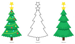 Printable Christmas Tree Printable Christmas Tree Bunting To Colour And Decorate For