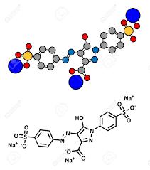 La Tartrazina E102 Mol Cula De Colorante De Alimentos Colorante