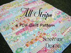 Simple Twin Size Quilt Pattern by | Sassy, Twins and Patterns & Strip Quilt Pattern All Strips Fat Quarters Striped Easy Simple Quick Throw  Twin Size Striped Quilting Sewing PDF Instand Upload Digital by  SunnysideFabrics Adamdwight.com