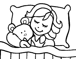 Small Picture coloring page girl sleeping color online coloringcrew 451205
