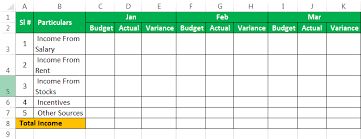 Budget Layout Excel Personal Budget Template In Excel Example Download How