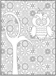 Print & Download - Cartoon Owl Coloring Pages -