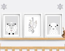 counting sheep nursery wall art
