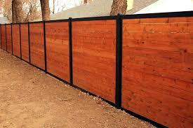 horizontal wood fence. Interesting Fence Wood Fence With Metal Posts Horizontal Wooden    In Horizontal Wood Fence
