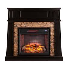 w faux stone infrared a fireplace in black a fireplace and s