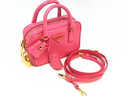 「プラダ サフィアーノ  ピンク 2WAYミニバッグ」の画像検索結果