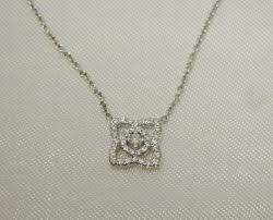 de beers enchanted lotus diamond 18k white gold mini pendant necklace 16 l 1787168846