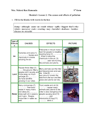 and effects of pollution causes and effects of pollution