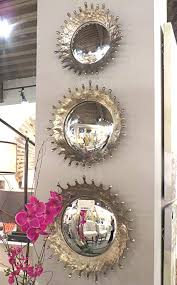 Mirror grouping on wall Small Image Unavailable Tankteamco Amazoncom Silver Sunburst Round Convex Wall Mirror Set Raindrops