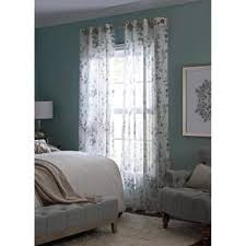 lighting curtains. Allen + Roth Candian 84-in Blue Polyester Grommet Semi-Sheer Single Curtain Panel Lighting Curtains