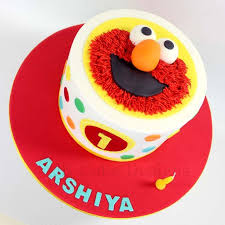 Single Tier Elmo 1st Birthday Cake Jk Cake Designs