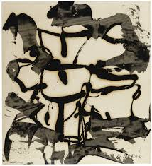 willem de kooning abstraction black and white abstraction 1948