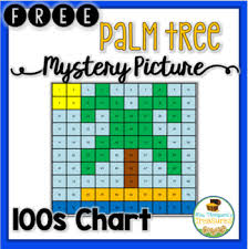 Palm Tree Chart Free Summer Palm Tree Hundreds Chart Mystery Picture