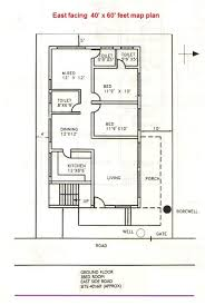 house plan 40 x 60 plot elegant 98 east facing home vastu for east facing plot