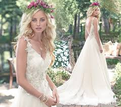 romantic wedding dresses with floral details love maggie love