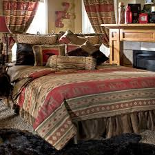 rustic king size bed rustic cabin bed moose bedding set rustic home bedding