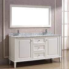 White Double Bathroom Vanities