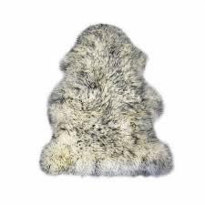 super king size sheepskin rug grey tip