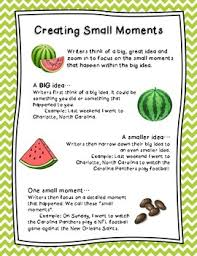Small Moment Watermelon Anchor Chart Small Moments With Mini Anchor Chart For Writing Workshop