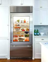 used sub zero glass door refrigerator before and after project front used sub zero