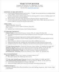 Early Childhood Education Resume Mesmerizing 60 Preschool Teacher Resume Templates PDF DOC Free Premium