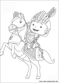 Small Picture Mike the Knight coloring pages on Coloring Bookinfo