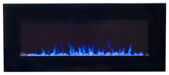 northwest fire and ice electric fireplace black