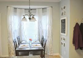 image of dining bay window curtain rod